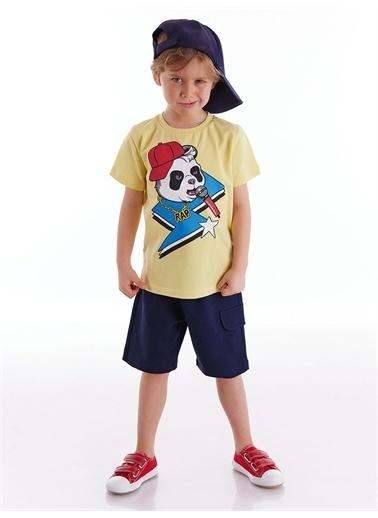 Mushi Rap Erkek Çocuk Şort Takım Renkli